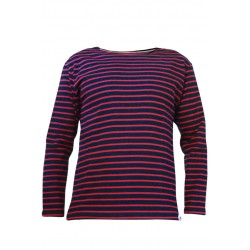 Classic breton striped top in navy-red