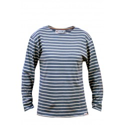 Classic Breton striped top in jeans-natural