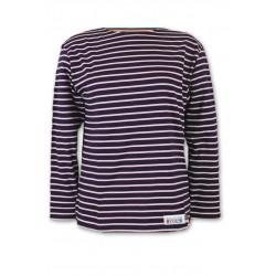 Classic Breton striped top in navy-pink