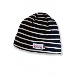 Breton Beanie in .navy-red.
