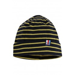 Breton Beanie in navy-lime.