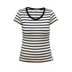 Breton striped top lady 01 natural-navy