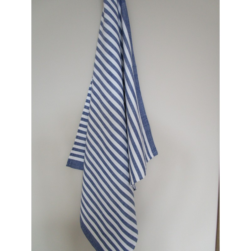 Striped Tea Towel Blue White